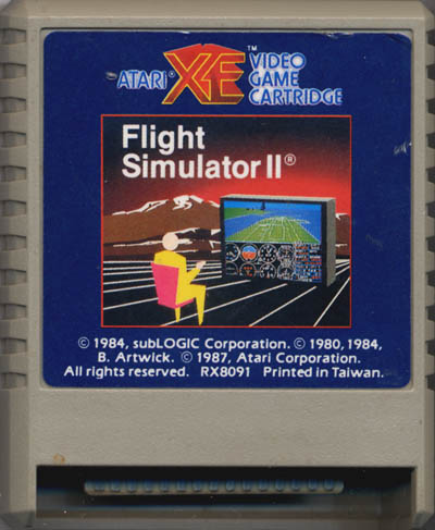 Atari XE: Flight Simulator II
