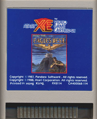 Atari XE: Into the Eagle's Nest